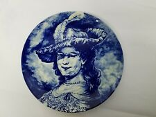 Plate Vintage Boch Defts Delft Plate Blue Rembrandt Wall Hanger Free Shipping