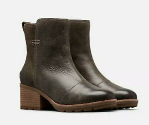 NEW $170 Sorel Women's Cate Bootie Waterproof Leather Ankle Boot  Major size 5.5