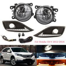 Daytime Running Light Fog Lamp Wires Switch Kit For Honda CRV CR-V 2012-2014 DRL