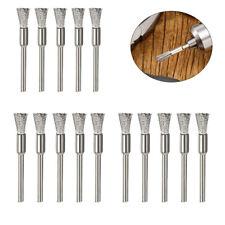 15X Stainless Steel Wire Brush Set Dremel Tool Rotary Die Grinder Removal Wheel