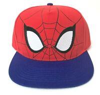 SPIDER MAN FACE SNAPBACK HAT big logo marvel comic red blue lightweight cap OSFM