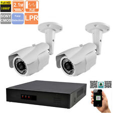 2x 2MP License Plate Recognition  4CH 5MP NVR IP Security System