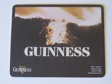 Beer Pub Coaster ~ GUINNESS & Co Stout ~ Ocean Surfer on Harp in Waves ~ IRELAND