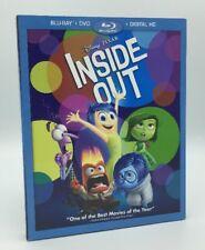 Inside Out (Blu-ray+DVD+Digital, 2015; 3-Disc Set) w/ Slipcover; Disney-Pixar