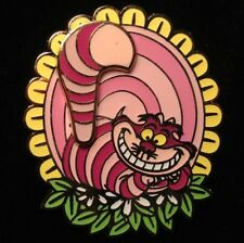 DISNEY PIN - Alice in Wonderland Villain CHESHIRE CAT Flower Tail Movement - New