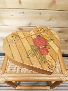 Vintage Hand Crafted Wooden Heart Shaped Box ~Be A Sheila!! ~ Kitsch, Retro