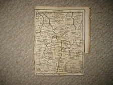EARLY 1744 HAUT BAS RHIN FRANCE RHINE RIVER BUFFIER COPPERPLATE MAP LORRAINE NR