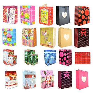 1pcs X DECORATIVE LUXURY PAPER GIFT BAGS FOR ALL OCCASIONS SMALL, LARGE, MEDIUM