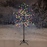 NEW 120CM LED BLOSSOM TREE MULTI COLOURED DECORATION OUTDOOR CHRISTMAS INDOOR