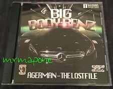 AGERMAN of 3XKRAZY Big Body Benz GANGSTA RAP CD G-Funk The Lost File RARE