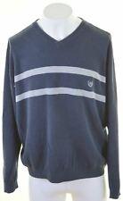 CHAPS RALPH LAUREN Mens V-Neck Jumper Sweater XL Navy Blue Cotton  CA23