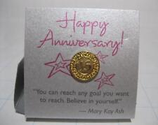 Mary Kay 20 year ANNIVERSARY Beauty Consultant Gold LAPEL PIN TACK Director Suit