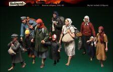 1:35 WW2 European Civilians Children Big Set 10 Figures High Quality Resin Kit