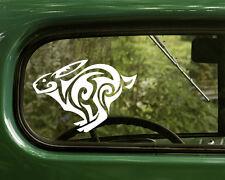 2 TRIBAL RABBIT DECALs Bunny Sticker for Car Truck Laptop Bumper Window