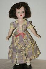 "PRETTY! Vintage 17"" Nanette Walker Hard Plastic Doll"
