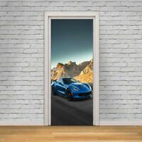 Chevrolet Corvette Car 3D DOOR WRAP Decal Wall Sticker Home Decor Mural Art D241