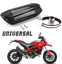 Motorcycle Sound Carbon Fiber Color Exhaust Muffler Silencer bike Exhaust Pipe
