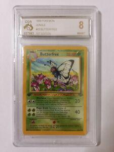 1st Edition Butterfree 33/64 CGA 8 Graded Jungle Pokemon Card Near Mint - Mint!