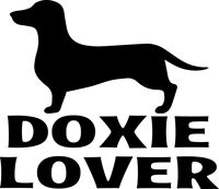 Doxie Lover Decal Window Bumper Sticker Car Pet Dachshund Dog Love Weiner Dogs