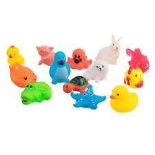 13 PC Animales niños Juguetes de goma suave del flotador Sqeeze sonido del