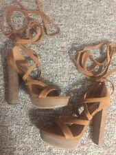 Steve Madden Ladies Lace-up Suede Heels Size 9