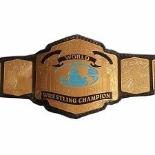 World Class Wrestling Championship Belt Brass Metal