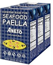 Aneto Seafood Paella Cooking Base, Imported from Spain (Pack of 3)