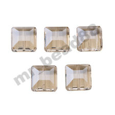 10pcs 14mm Flat Square Faceted Glass Crystal Loose Beads Jewelry DIY Findings
