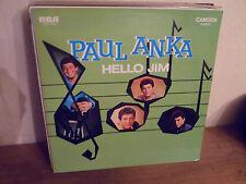 "LP 12 "" PAUL ANKA - Hello Jim - NM/NM - RCA/CAMDEN - CDS 6018 - GERMANY"