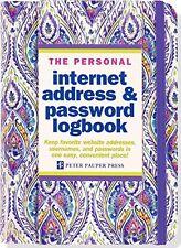 The Personal Internet Address Password Lock Book Logbook Organizer Personalized