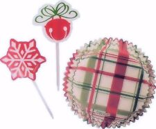 Christmas Red & Green Design  Baking Cup Combo Pack from Wilton #1891 - NEW