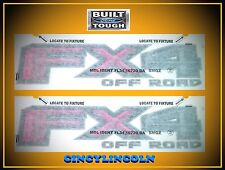 Bedside Decal FX4 Off Road Red / Silver 2015 2016 Ford F150 Pickup OEM Pair