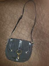a0c9f61df30 Lauren Ralph Lauren Saddle Small Shoulder Bag Black Cancas Leather Trim
