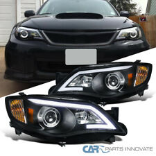 For 08-11 Impreza OutBack Sport 08-14 WRX Black LED DRL Projector Headlights