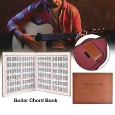 Guitar Chord Book PU Leather 6 String Tablature Guitarra Finger Exercise Sheet