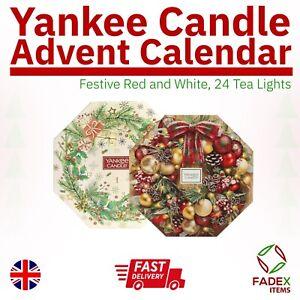 Yankee Candle Advent Calendar Festive Christmas Design 24 Tea Lights Scented