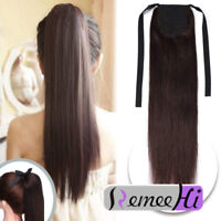 Ponytail Remy Clip in 100% Real Human Hair  Extensions One Hair piece 80g Tie Up