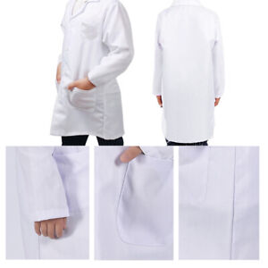 Child Kid White Lab Coat Doctor Hospital Scientist School Fancy Dress Costume