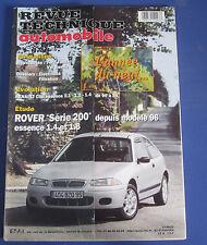 Revue technique automobile RTA 612 (1998) rover série 200 depuis mod 96 essence