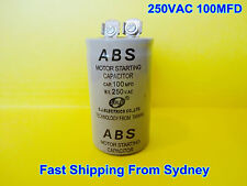 ABS 250VAC 100MFD (100uF) Air Conditioner Appliance Motor Starting Capacitor NEW