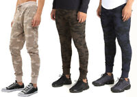 New Mens Teens Branded Brave Soul Spike Camouflage Camo Skinny Fit Joggers Pants
