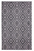 Geometric Diamond - Dark Grey, Moroccan Transitional Area Rug - 516