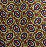Gold Blue Red Foulard Silk Tie