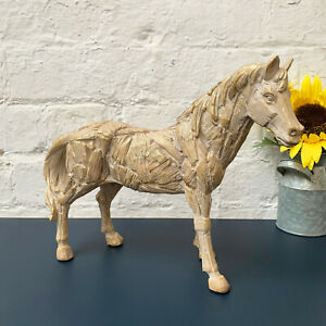 Driftwood Effect Resin Pony Horse Figurine Statue Sculpture Ornament Gift Large