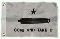 """12x18 12""""x18"""" Gonzales Gonzalez Come and Take It Texas Flag Banner Grommets"""