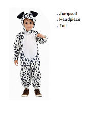 Toddler Dog Fancy Dress up Dalmation Party Costume Age 3 World Book Day