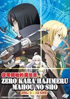 DVD Anime Zero Kara Hajimeru Mahou No Sho (Grimoire of Zero) (1-12) English Sub
