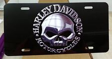 HARLEY DAVIDSON WILLIE G MOTORCYCLES LICENSE PLATE BLACK SKULL BIKER SIGN