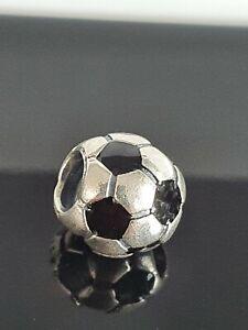 Pandora Football Soccer Ball Silver Black Enamel Charm 790406 Free Postage