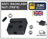 Anti Backlash Nut Block TR8 8 Delrin 8mm LEAD SCREW CNC 3D Printr C-BEAM V-SLOT